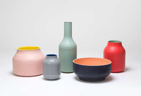 Noticeable Seamed Ceramics - Benjamin Hubert Creates the Seams Collection to Explore Mass Production