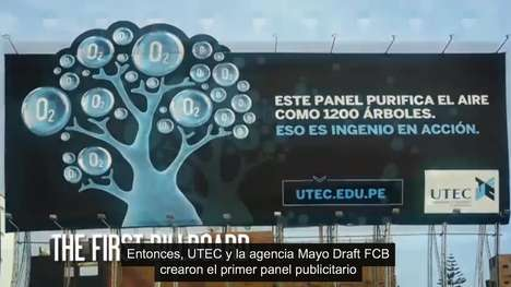 Air-Purifying Billboards - UTEC is Taking on Peru's Construction Pollution with Clever Advertising