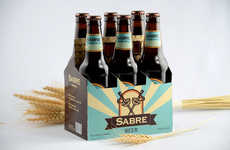 Sword-Crossed Beer Packaging - Sabre Beer Uses Fencing Swords to Represent its Brand