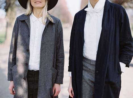 Scandinavian-Japanese Clothing Lines - The Ouur Autumn/Winter 2014 Apparel Fuses Cultures