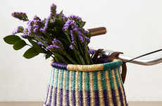 Bohemian Bike Baskets - This Line of Handwoven Bike Basket is Personal and Hippie