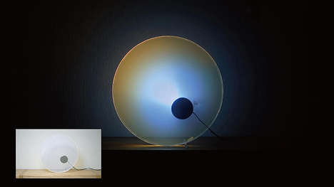 Scientific Sky-Mimicking Lamps - This Sky Light Rotates Like a Clock and Reacts to Ambient Sounds