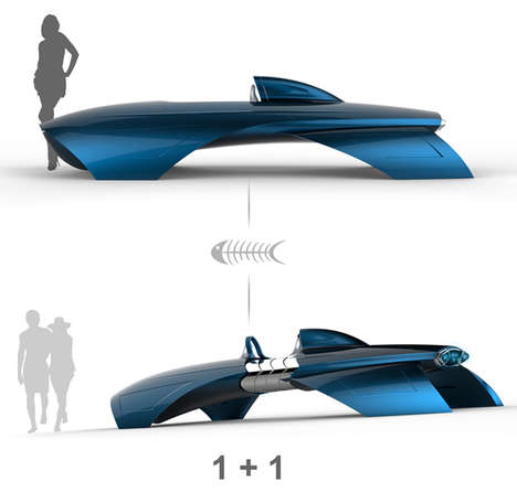 Air-Slicing Automobiles - The Shark Vehicle Cuts Resistance for Efficient Water, Land and Air Travel