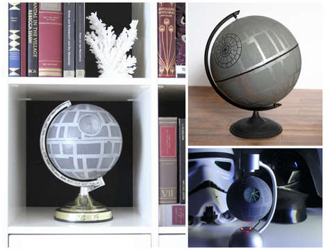 DIY Sci-Fi Globes - This Tutorial Teaches You How to Upcycle a Globe into a Star Wars Death Star