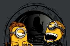 Galactic Minion Tees - This Star Wars Graphic T-Shirt Features the Minion Twins from Despicable Me