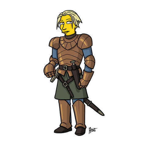 Iconic Medieval Caricatures - The Game of Thrones Cast Has been Simpsonized