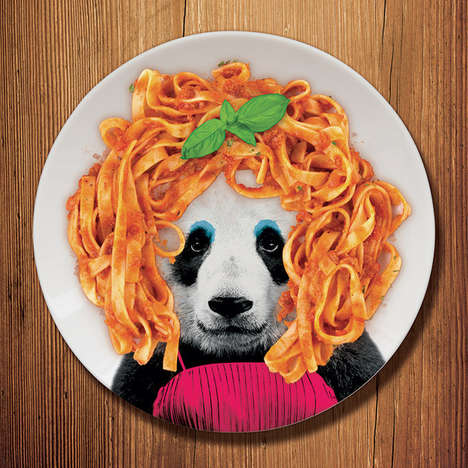 Whimisical Wildlife Plates - The Wild Dining Plates Let You Play Dress Up With Your Food