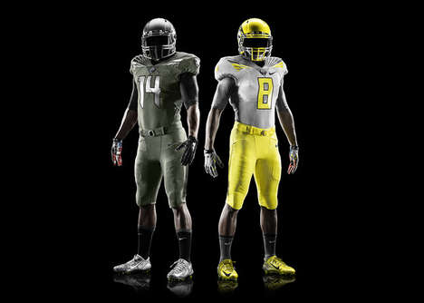 Military-Honoring Football Uniforms - The Nike Mach Speed
