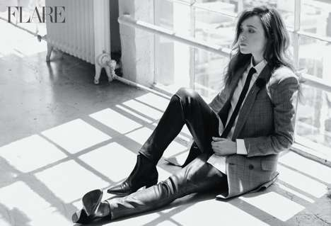 Mellow Androgynous Celeb Editorials - The Flare Magazine June 2014 Cover Shoot Actress Ellen Page