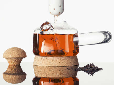 Stylish Glass Kettles - The Upon Teapot by Nikolo Kerimov is Inspired by Mountains and Clouds