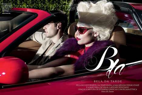 Stylized Retro Editorials - The Vogue Brasil May 2014 Photoshoot Stars Models Aline Weber