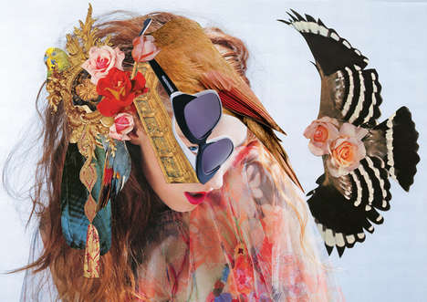 Eccentrically Collaged Lookbooks - Wunderkind SS14 by Ashkan Honarvar is Inspired by Janis Joplin