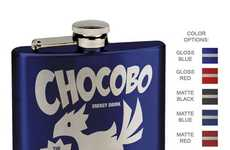 Avian Fantasy Flasks - This Boozy Chocobo Energy Flask was Inspired by Final Fantasy