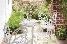 Whimsical White Winged Tables
