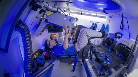 Minimalist Spacecraft Interiors - The Boeing CST-100 Interior Concept is Designed for Space Tourists