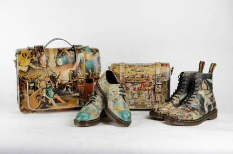 Historical Painting Shoes - The Dr. Martens Heaven Collection is Inspired by Hieronymus Bosch's Work