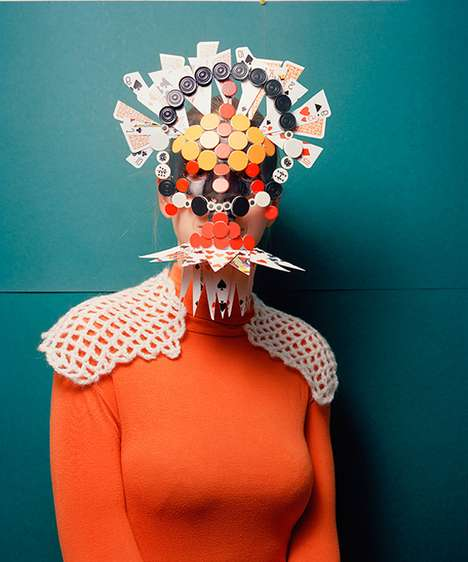 Extravagant Mask Photography - Marie Rime Photographs Masks Made Out of Every Day Objects