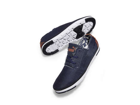 Eco-Friendly Denim Shoes - The Puma 'Re-Cut Project' Shoes are Manufactured from Recycled Denim