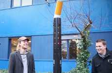 Musical Cigarette Garbages - The Smoke Pole Rewards Smokers with Music and Bright Lights