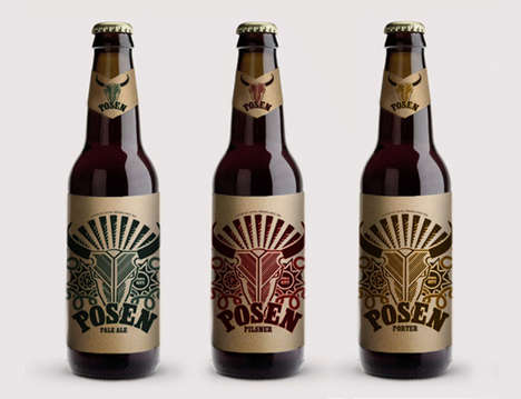 Ranch-Inspired Beer Branding - Posen Beer by Diana Goldberg Takes Cues from One Person