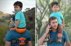 The SaddleBaby Child Carrier Keeps Kids in Birds Eye View