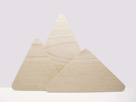 Mountain Mimicking Chopping Boards - These Designer Triangle Cutting Boards are Inspired by Nature