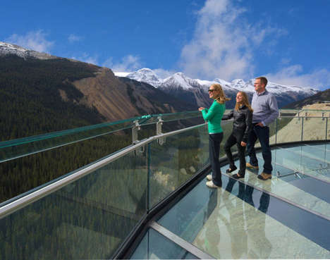 Breathtaking Glass Bridges - The Glacier Skywalk is Not for Those Who Fear Heights