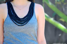 Twisted T-Shirt Necklaces - This Clever DIY Upcycles Old Clothes into Vintage Jewelry