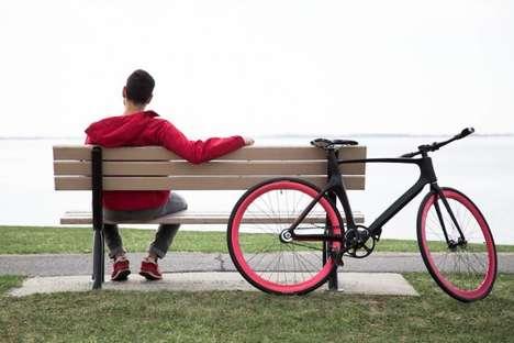 Lightweight Commuter Bikes - The Vanhawks Valour Bike Hooks Up to a Commuter's Smartphone