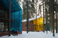 Illuminated End Abodes - The Firefly Houses by Totan Kuzembaev are Named Due to Their Glowing Nature