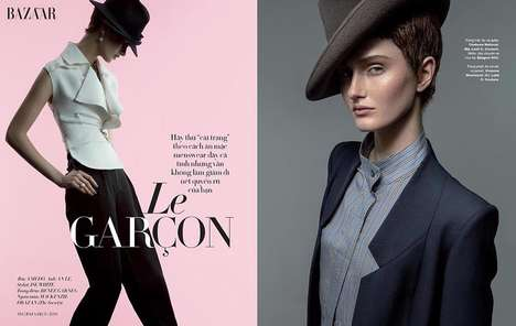 Charmingly Androgynous Editorials - Harper