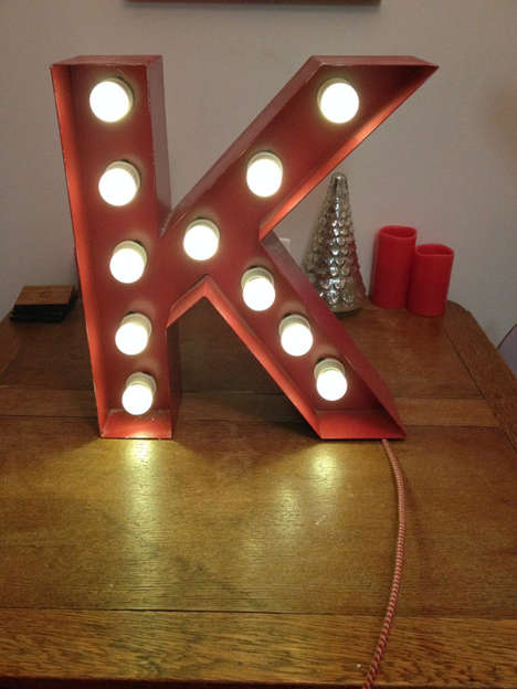 Alphabetic Marquee Lights - These Letter Lights Look Like Refurbished Vintage Store Signs