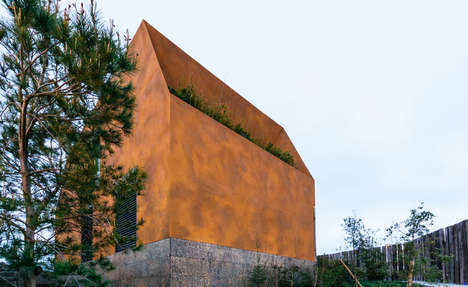 Polygonal Hilltop Houses - Casa Varatojo by Atelier Data Offers Amazing Views
