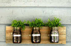 Upcycled Glass Planters - These Rustic Glass Jar Planters are Made Using Upcycled Mason Jars