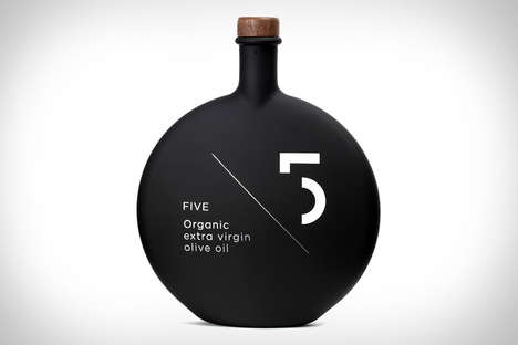 Matte Black Bottle Branding - The Five Olive Oil Bottle Packaging Takes on Mind-Blowing Shape