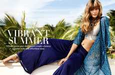 Effortless Feminine Resort Lookbooks - The H&M Ladies Summer 2014 Catalog Stars Frida and Gracie