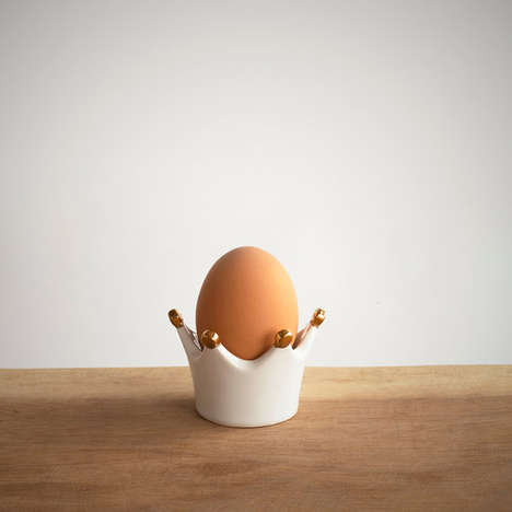 Kingly Egg Crowns - This Egg Cup is Shaped Like King Henry VIII's Regal Crown