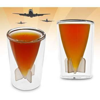 Artillery Drinking Ware - Make Your Next Party Remarkable with the Bombs Away Shot Glass Set