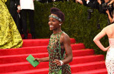 Dazzling Emerald Flapper Dresses - The Lupita Nyong'o MET Gala Gown is a Mod Twist on a 20s Classic