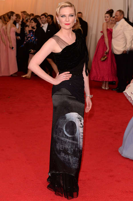 Death Star Dresses - The Sci-Fi Themed Kirsten Dunst Met Gala 2014 Dress is Designed by Rodarte