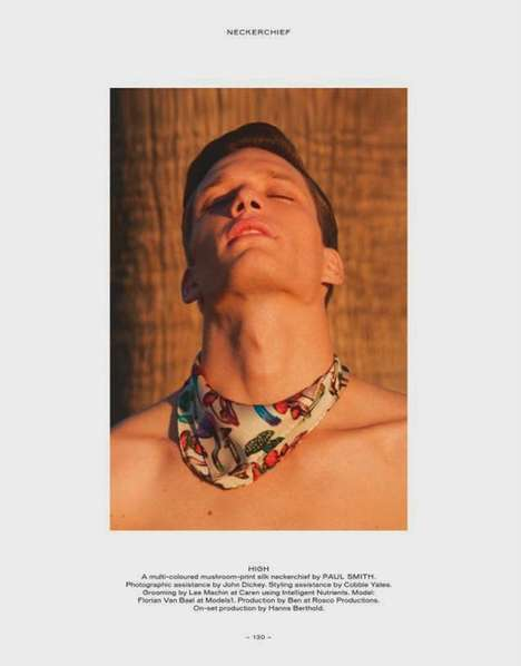 Sensual Neckerchief Editorials - This Fantastic Man Magazine Spread Features Model Florian Van Bael