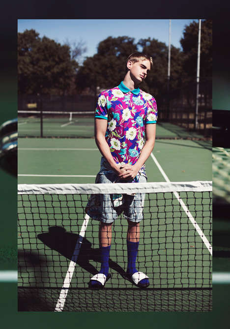 Summer-Ready Sportswear Editorials - The Deuces Male Model Scene Exclusive is Tennis-Inspired