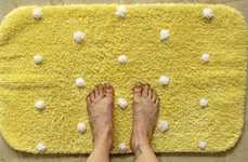 Playfully Dotted Bath Rugs - Add Some Humorous Touches to Your Bathroom Accessories with This Guide