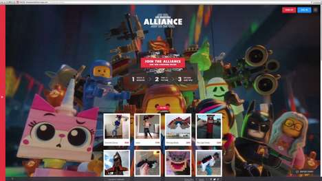 Virtual Building Block Campaigns - Help the Characters from the LEGO Movie with the Awesome Alliance