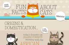 Insightful Feline Fact Charts - This 'Fun Facts About Cats' Infographic Discusses Origins and Stats