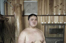 Sumo Training Photography - This Sumo Wrestling Series Showcases Student Conviction