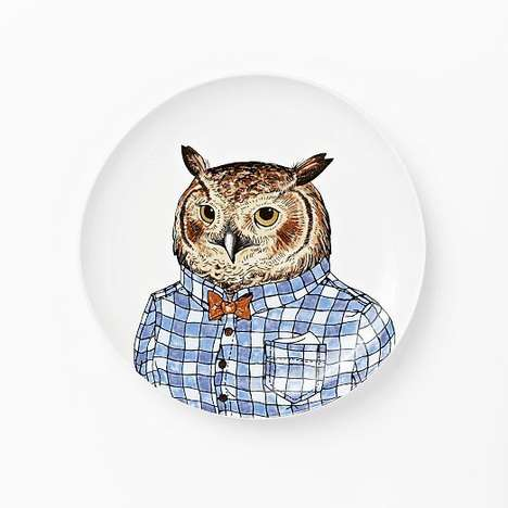 Dapper Animal Dishware - These Personified West Elm Plates are a Hipster-Approved Home Accessory
