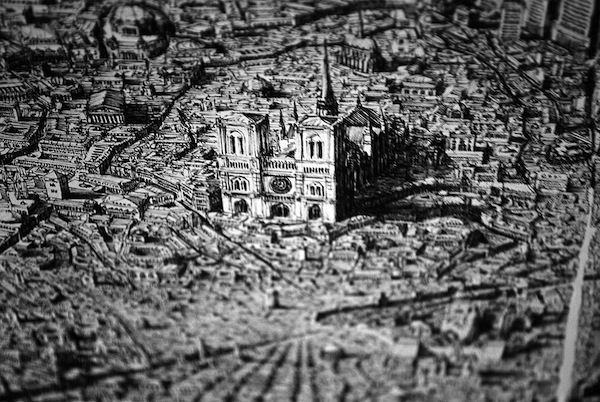 Intricate Cityscape Sketches