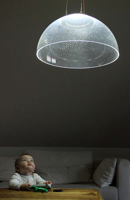 Starry Night Lighting - The Skylight by Denise Hachinger is Like a Small Planetarium