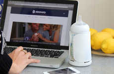 Trackable Baby Bottles - The Sleevely Baby Bottle Monitors Your Child's Feeding Habits